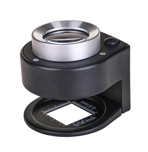 (LED Illuminated UV Lights 30X Jewellers Loupe Premium Magnifying Eye Loop Best for Jewellery, Diamonds, Gems, Coins, Engravings and More)