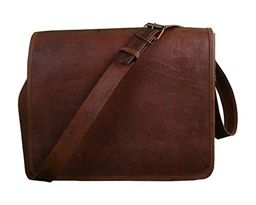 Anshika International 15.6 inches Leather Laptop Messenger Side Bag