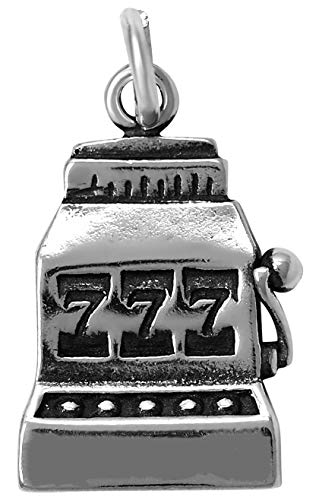 Raposa Elegance Sterling Silver Slot Machine Charm (approximately 15 mm x 12.5 mm) (Best Odds Of Winning In Vegas)