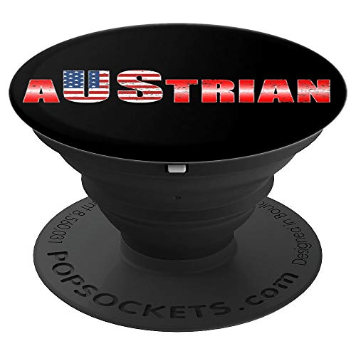 Austrian Austria US Osterreichs Flag Gift - PopSockets Grip and Stand for Phones and Tablets ()