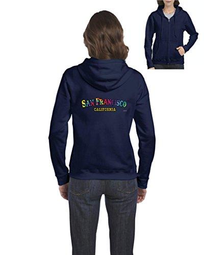 California Hoodie Tie Dye San Francisco Cali Womens Sweaters Zip Up (Wreath Flat Card)