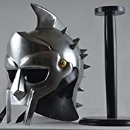 Greek armour gladiator helmet with stand maximus decimus meridians armour decor home office best gift