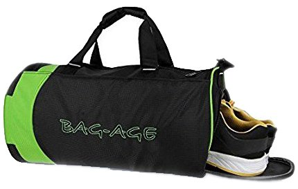 fcd4d8e4b6a1 Bag-Age Duffle Bag Sports Gym Travel Luggage Including Shoes Compartment  Women   Men Croop