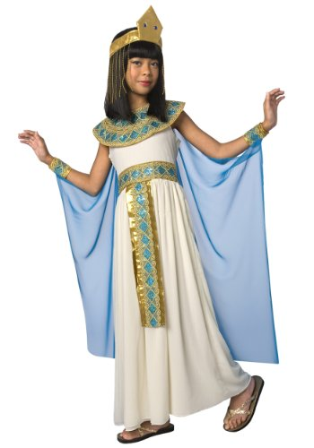 Girls Egyptian Queen of The Nile Cleopatra Costume - 5 Piece Quality (Egyptian Dress For Girls)