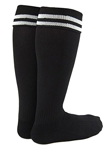 (Lian LifeStyle Girl's 1 Pair Knee High Sports Socks for Baseball/Soccer/Lacrosse XL002 XXS Black)