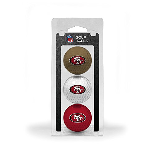 Team Golf NFL San Francisco 49ers Regulation Size Golf Balls, 3 Pack, Full Color Durable Team Imprint
