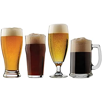 luminarc assorted craft brew beer glasses. Black Bedroom Furniture Sets. Home Design Ideas