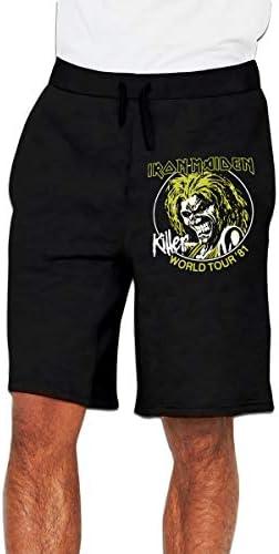 アイアン・メイデン Killer World Tour 81 ハーフパンツ ショートパンツ フィットネス スポーツ ランニング 吸汗速乾 ズボン カジュアル メンズ