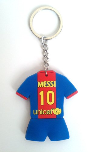 FC Barcelona & Lionel Messi #10 2012-2013 Home Jersey Keychain