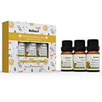 BeNatu 100% Pure and Organic Sample Kit for Beginners (Lemon, Citrus, Bergamot)