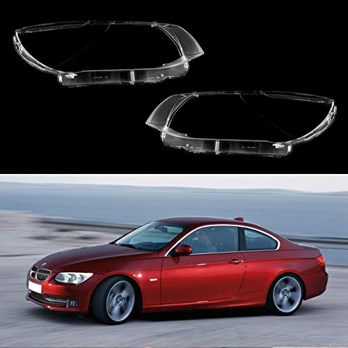 BimmerJakes 3 Series E92 Coupe / E93 Convertible 2 Door After Facelift 2009, 2010, 2011, 2012, 2013 - Headlight Lens Plastic Covers, Pair (Left + Right) ()