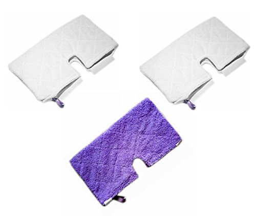 Astar 3 Pack New Rectangle Microfiber Pad for Shark Pocket Steam Mop S3550 S3501 S3601 S3901 (Shark S3501 Replacement Head)