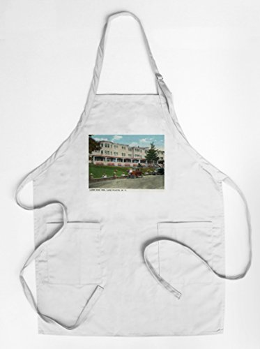 lake-placid-new-york-exterior-view-of-lake-side-inn-quality-cotton-polyester-chefs-apron