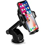 Mixigoo Car Phone Holder, Air Vent Car Dashboard Phone Holder, Washable One Touch Strong Sticky Gel Pad iPhone XS/X8/8Plus7/7P/6s/6P,Samsung Galaxy S9/S8/S7/S6, Google, LG, Huawei Other Smart