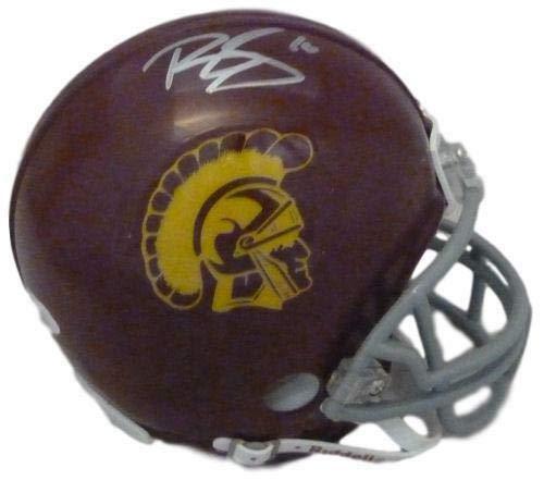 (Brian Cushing Autographed USC Trojans mini helmet JSA)