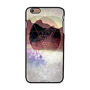 LZX Triangle Mountain and Letters Style Plastic Hard Back Cover for iPhone 6 Plus