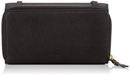 (Fossil Damen Tasche Brynn - Mini Bag, Women's Wallet, Schwarz (Black), 5.1x10.2x20.3 cm (B x H T))