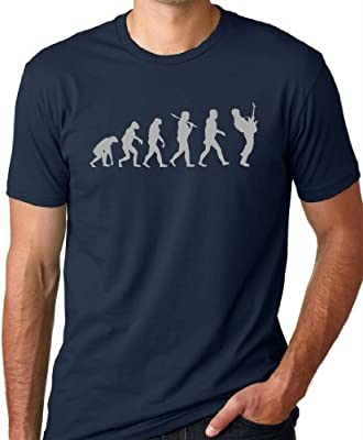 Guitar Player Evolution Funny T-Shirt Guitarist musician Tee