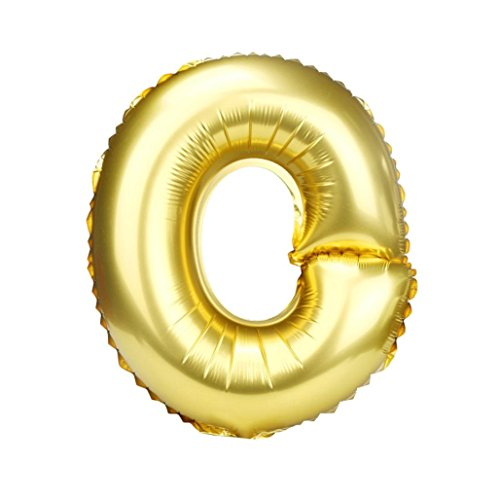 Tuscom 16 inch A to Z Letter Foil Balloons Party Ballon Gold Color for Birthday, New year, Christmas, (16 inch/, (Letter Balloon)