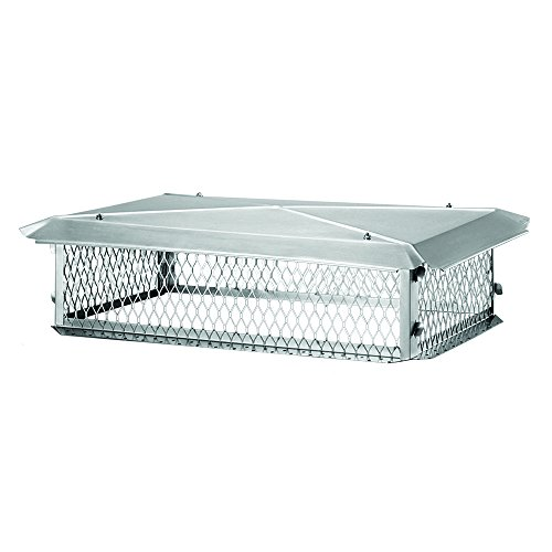 BigTop BT1537K Stainless Steel Big Top Chimney Cover, 8'' x 15'' x 37'' by Big Top