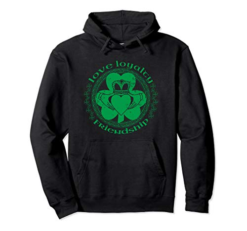 - Claddagh Irish Shamrock Saint Patricks Day Hoodie