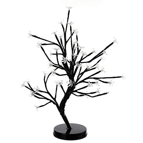 KathShop Christmas Yellow Home Decoration Lamp 48 LED Plum Blossom Desk Top Bonsai Tree Light 52cm Height ping