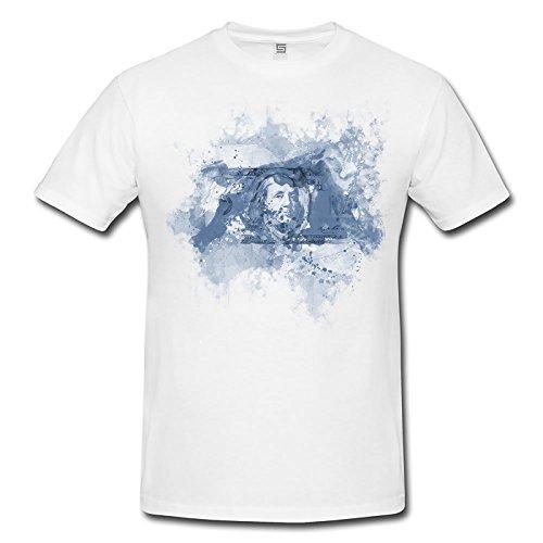 Dollar Herren T- Shirt , Stylisch aus Paul Sinus Aquarell Cyan