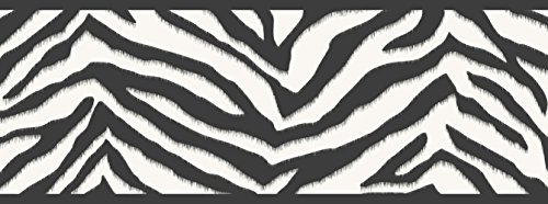 Chesapeake TOT46421B Mia Black Faux Zebra Stripes Wallpaper (Zebra Stripes Wallpaper)