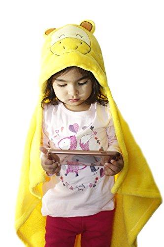 Zoopurr Pets Baby Boys' or Baby Girls' Hooded Animal Blanket; Super Soft, Huggable Plush Hoodie Blanket (Baby Giraffe)