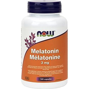 NOW Melatonin 3 mg,180 Capsules