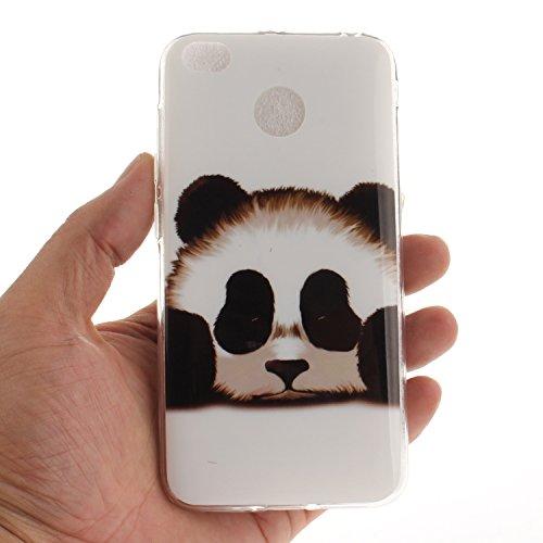 4X Protection Scratch Transparent Bord Redmi TPU Silicone panda Cas Couverture Motif Slim Souple En De Xiaomi Fit Arrière Hozor Peint Antichoc Résistant Cas De Téléphone 41qEZ