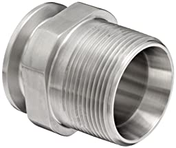 Dixon 21MP-G150 Stainless Steel 304 Sanitary Fitting, Clamp Adapter, 1-1/2\