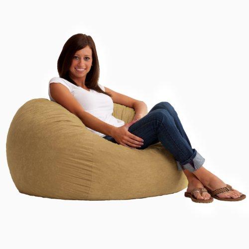 Fuf 3' Comfort Suede Bean Bag - Color: Sand Dune