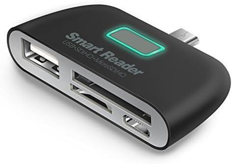 Micro USB OTG adaptador 4 en 1 Micro USB OTG/TF/SD lector de ...