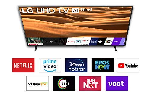 LG 126 cm (50 inches) 4K Ultra HD Smart LED TV 50UM7290PTD (Ceramic BK + Dark Steel Silver) (2019 Model)