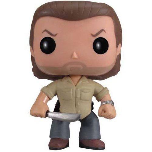 Funko Pop! Television - Rick Grimes de The Walking Dead, Figura de 10 cm FUNVPOP3