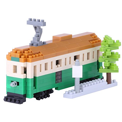 Nanoblock  Melbourne Tram Building Kit (Melbourne Store Green)