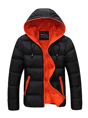 [해외]에 발리 아나 맨 즈 컬러 블록 후드 w 추가 자 켓 아웃 웨어 코트가을 겨울 일찍 / Evaliana Men Color Block Hooded Wadded Jacket Outwear Coat Autumn Early Winter