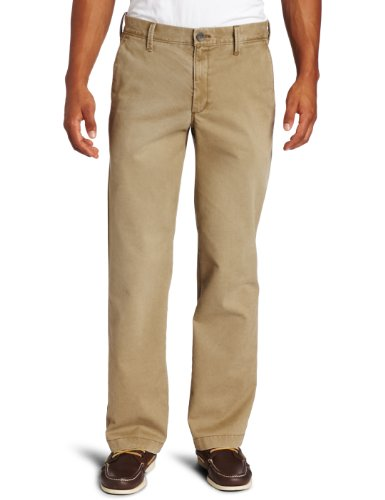 Men's Khaki Sand Washed Straight Fit Chino