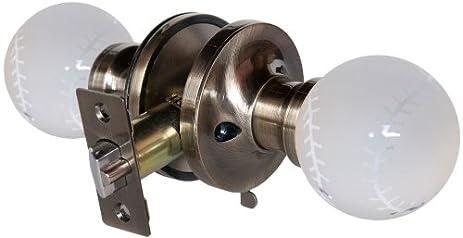 Krystal Touch of New York 3660APR Baseball Privacy Doorknob, 2.5 ...