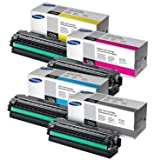 Green Apple Imaging Samsung CLP-680ND, CLX-6250FD, CLX-6260FR 4PK High Yield Original Toner Cartridges,CLT-K506L, CLT-C506L, CLT-M506L, CLT-Y506L (BCMY)
