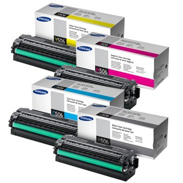 Green Apple Imaging Samsung CLP-680ND, CLX-6250FD, CLX-6260FR 4PK High Yield Original Toner Cartridges,CLT-K506L, CLT-C506L, CLT-M506L, CLT-Y506L (BCMY) by SAMSUNG