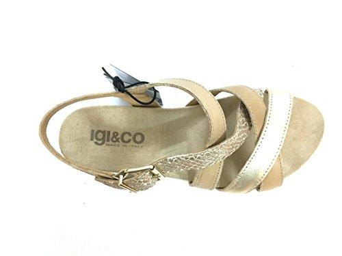 7811 CASTORO Scarpa donna sandalo Igi&co pelle made in italy Bianco