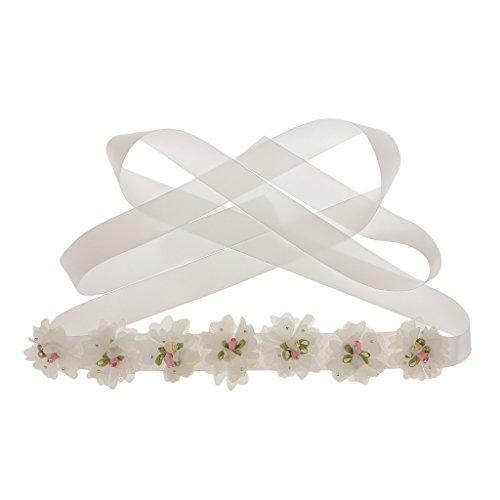 似ている痛み費用【ノーブランド品】アイボリー 美しさの花 ウェディングドレス ベルト ブライダル アクセサリー 手作りサッシ