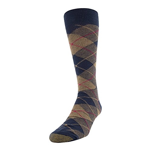 Gold Toe Men's Patterned Fashion Dress Crew Socks, 1 Pair, bias Plaid, Shoe Size: 6-12.5 ()