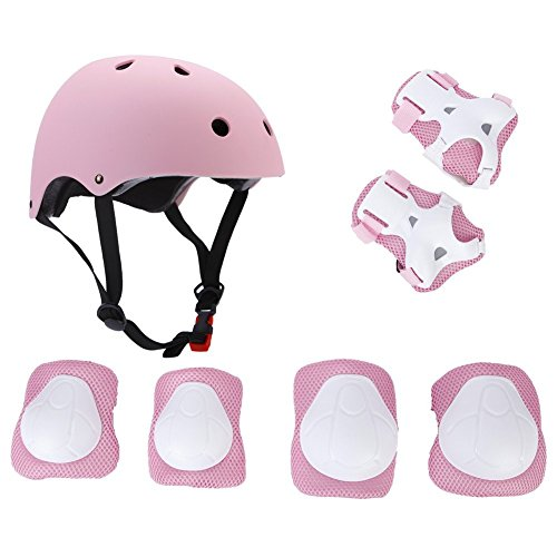 Elesky Kids Youth Adjustable Sports Protective Gear Set Safety Pad Safeguard (Helmet Knee Elbow Wrist) Roller Bicycle BMX Bike Skateboard Hoverboard and Other Extreme Sports Activities