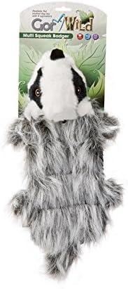 Gor Pets Soft Dog Toy Plush Wild Multi-Squeak Rabbit