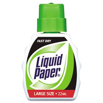 Liquid Paper® Fast Dry Correction Fluid FLUID,CORRECT,.7OZ,WE (Pack of5)