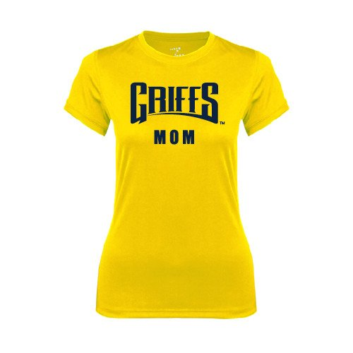 Canisius Ladies Syntrel Performance Gold Tee 'Mom'