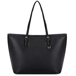 Black Tote Bag, COOFIT Handbags Black Handbags for Ladies Black Handbags Fashion Designed Women Handbag Ladies Black…